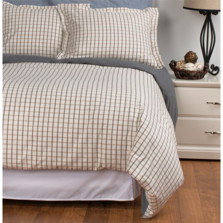 Peacock Alley Heathered Flannel Duvet Set Queen