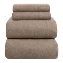 Peacock Alley Heathered Flannel Sheet Set - Full in Taupe - Overstock