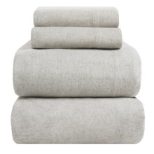 Peacock Alley Heathered Flannel Sheet Set - Twin in Grey - Overstock