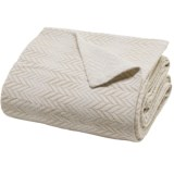 Peacock Alley Herringbone Blanket - Cotton-Linen, King