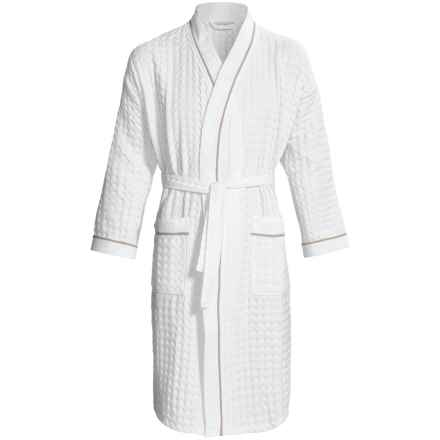 Peacock Alley Indulge Waffle Robe - Long Sleeve (For Men and Women) in Linen - Closeouts