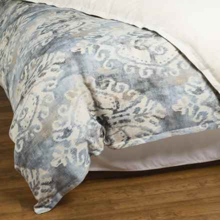 Peacock Alley Karma Collection Duvet - Queen, Linen Blend in Graphite - Overstock