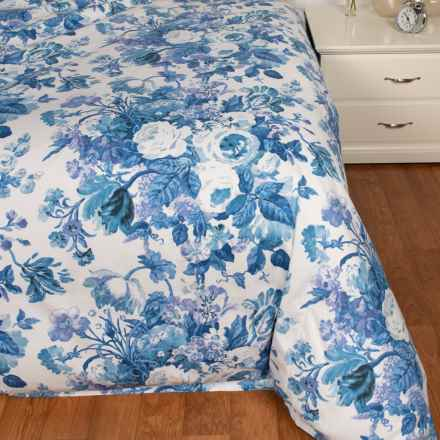 Peacock Alley Lauren Blue Duvet Cover - King in Blue - Closeouts