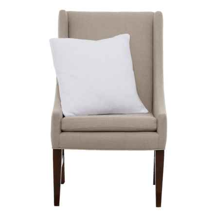 """Peacock Alley Mira Square Throw Pillow - 22x22"""" in White - Closeouts"""