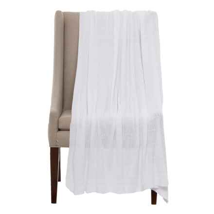"Peacock Alley Mira Throw Blanket - 50x70"" in White - Closeouts"