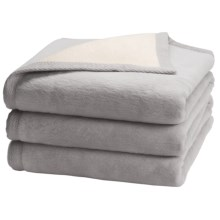 "Peacock Alley ""My Favorite"" Egyptian Cotton Blanket - King, Reversible in Flint/Natural - Overstock"