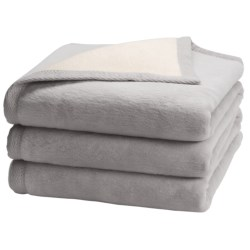 "Peacock Alley ""My Favorite"" Egyptian Cotton Blanket - Queen, Reversible in White/Natural"