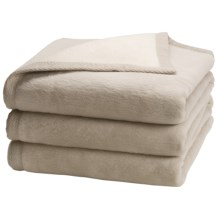 "Peacock Alley ""My Favorite"" Egyptian Cotton Blanket - Queen, Reversible in Linen/Natural - Overstock"
