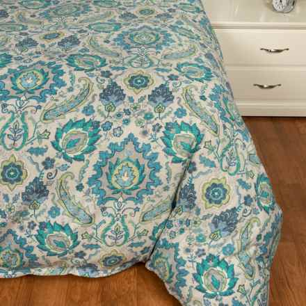 Peacock Alley Nyla Aqua Duvet Cover - Queen in Aqua - Closeouts