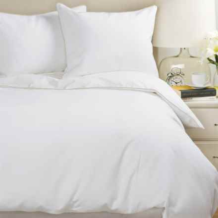 Peacock Alley Pique Tailored Collection Duvet Set - King, Cotton in Linen - Closeouts