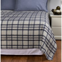 Peacock Alley Printed Flannel Blanket - Twin in Blue/Aqua - Overstock