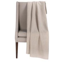 "Peacock Alley Printed Flannel Throw Blanket - 50x70"" in Wheat Herringbone - Overstock"