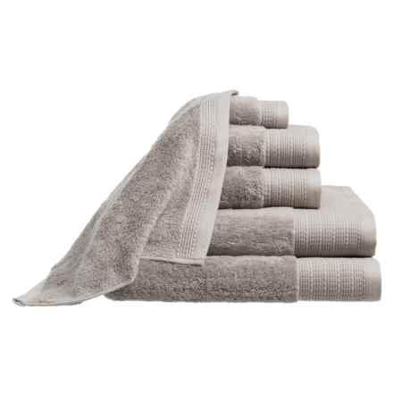 Peacock Alley Riviera Towel Set - 6-Piece in Flint - Closeouts