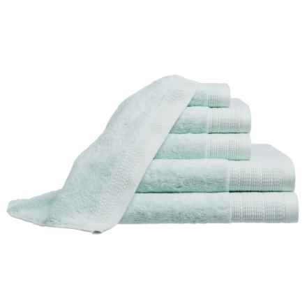 Peacock Alley Riviera Towel Set - 6-Piece in Glacier - Closeouts