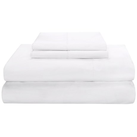 Peacock Alley Saville Sheet Set - Queen, 220 TC Egyptian Cotton Sateen in White