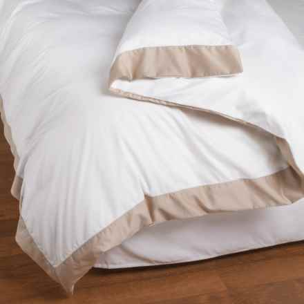 Peacock Alley Soprano Cuff Duvet - King, Egyptian Cotton in Linen - Overstock