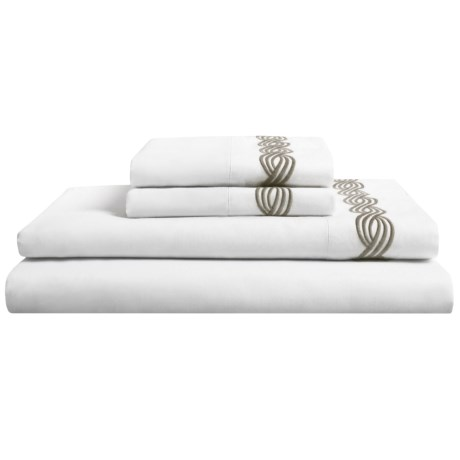Peacock Alley Trio Sateen Sheet Set - Queen, 300 TC in Flint