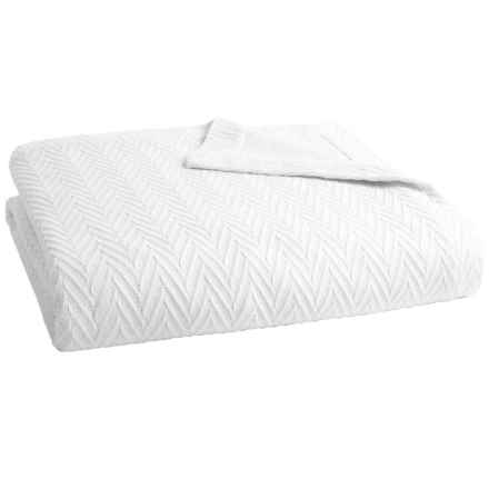 Peacock Alley Veneto Collection Blanket - King, Egyptian Cotton in White - Overstock