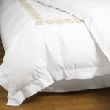 Peacock Alley Vienna Embroidered Duvet Cover - King, Egyptian Cotton