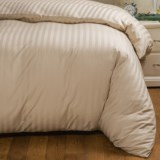 Peacock Alley Wide-Stripe Duvet Cover - Twin, Egyptian Cotton, 400 TC