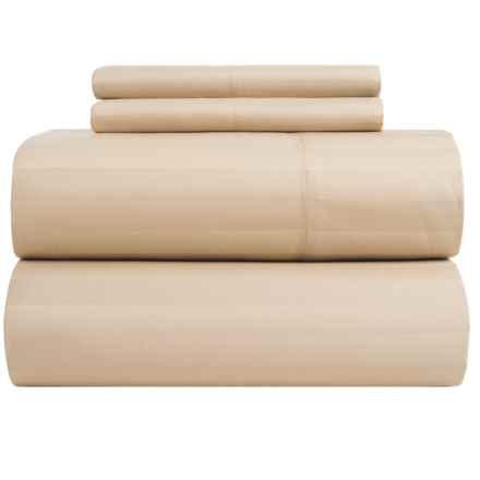 Peacock Alley Wide-Stripe Pillowcase - Standard in Linen - Closeouts