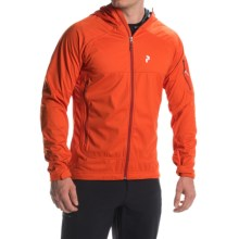 Peak Performance Aneto Hooded Jacket (For Men) in Flame Red - Closeouts