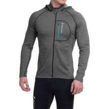 Peak Performance Dixon Hooded Jacket (For Men) in Dark Grey Mel - Closeouts