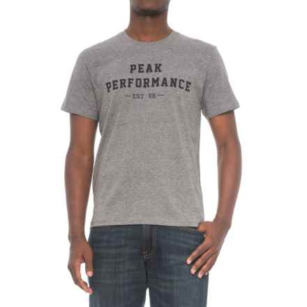 Peak Performance Edvin T-Shirt - Cotton, Crew Neck, Short Sleeve (For Men) in Greymelange - Closeouts