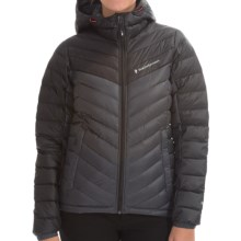 Peak Performance Frost Down Hooded Ski Jacket - 700 Fill Power (For Women) in Coal - Closeouts