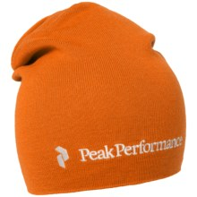 Peak Performance Golf Tour Beanie - Merino Wool Blend (For Men and Women) in Monk Orange - Closeouts