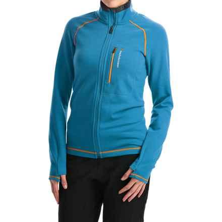 Peak Performance Heli Mid Jacket - Wool Blend (For Women) in Mosaic Blue - Closeouts