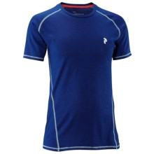 Peak Performance Light Base Layer Top - Merino Wool, Short Sleeve (For Men) in Electric Blue - Closeouts