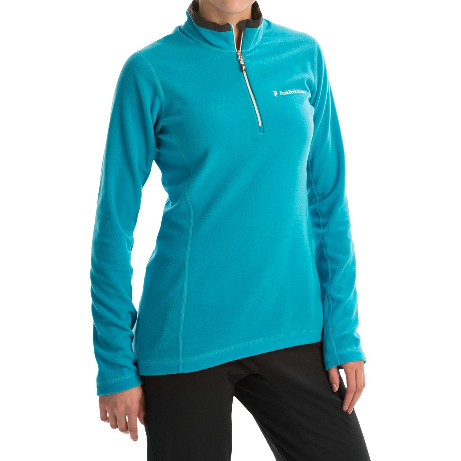 Peak performance light micro pullover shirt for women for Lightweight breathable long sleeve shirts