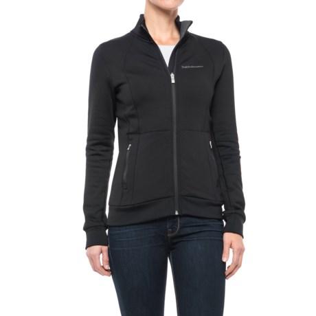Peak Performance Mid Full-Zip Jacket (For Women) in Black