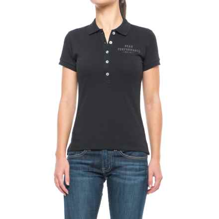 Peak Performance Pique Polo Shirt - Short Sleeve (For Women) in Black - Closeouts