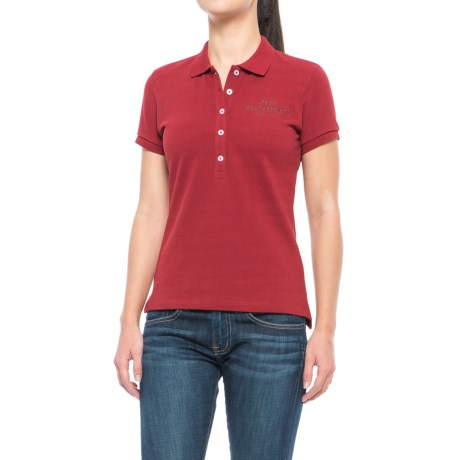Peak Performance Pique Polo Shirt - Short Sleeve (For Women) in Dustywine