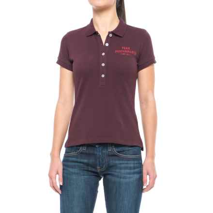 Peak Performance Pique Polo Shirt - Short Sleeve (For Women) in Mahogany - Closeouts