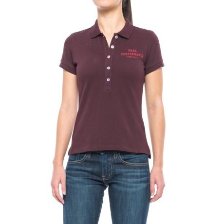 Peak Performance Pique Polo Shirt - Short Sleeve (For Women) in Mahogany