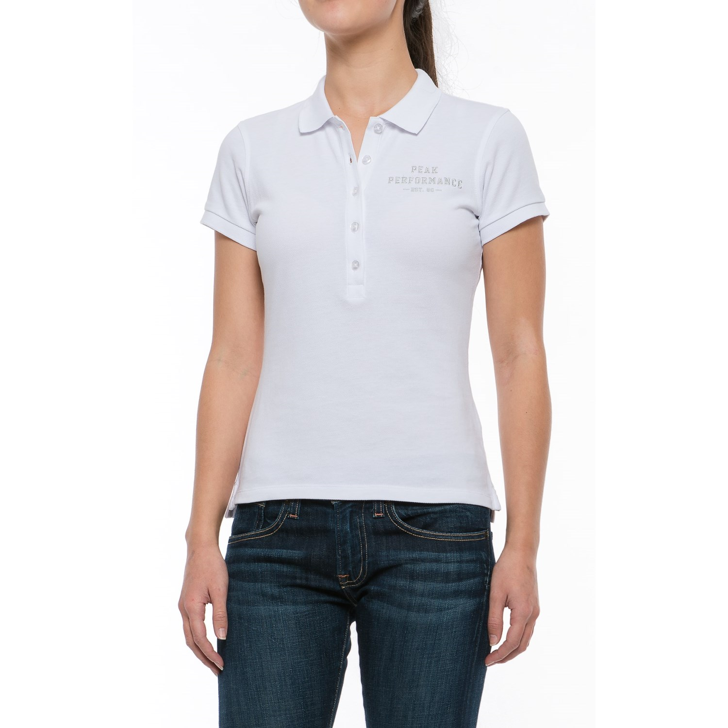Peak Performance Pique Polo Shirt Short Sleeve (For Women)