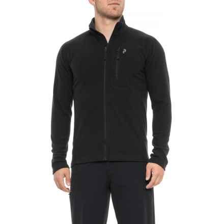 Peak Performance Synthetic Sweatshirt - Full Zip (For Men) in Black - Closeouts