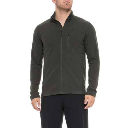 Peak Performance Synthetic Sweatshirt - Full Zip (For Men) in Oliveextreme - Closeouts