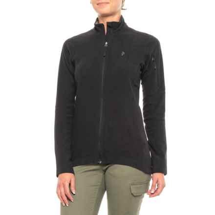 Peak Performance Synthetic Sweatshirt - Full Zip (For Women) in Black - Closeouts