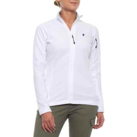 Peak Performance Synthetic Sweatshirt - Full Zip (For Women) in White - Closeouts