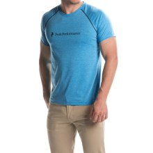 Peak Performance Track Graphic T-Shirt - Short Sleeve (For Men) in Atomic Blue - Closeouts