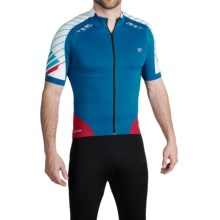 Pearl Izumi 2012 P.R.O. Cycling Jersey - Short Sleeve (For Men) in Mykonos Blue/Blue Atoll - Closeouts