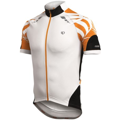 Pearl Izumi 2012 P.R.O. Cycling Jersey - Short Sleeve (For Men) in Safety Orange/White