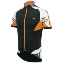 Pearl Izumi 2012 P.R.O. Leader Cycling Jersey - Full Zip, Short Sleeve (For Men) in Black/Safety Orange - Closeouts