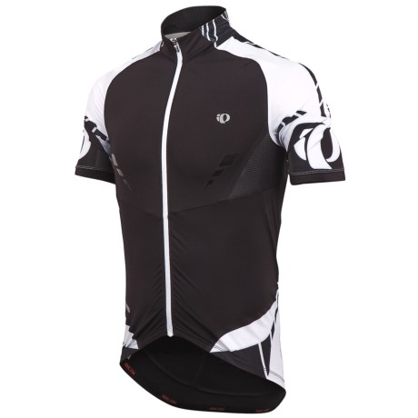 Pearl Izumi 2012 P.R.O. Leader Cycling Jersey - Full Zip, Short Sleeve (For Men) in Black/White
