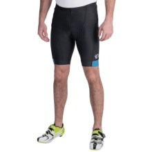 Pearl Izumi Attack Bike Shorts (For Men) in Black/Mykonos Blue - Closeouts