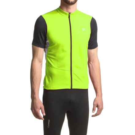 Pearl Izumi Attack Cycling Jersey - Short Sleeve (For Men) in Screaming Yellow - Closeouts